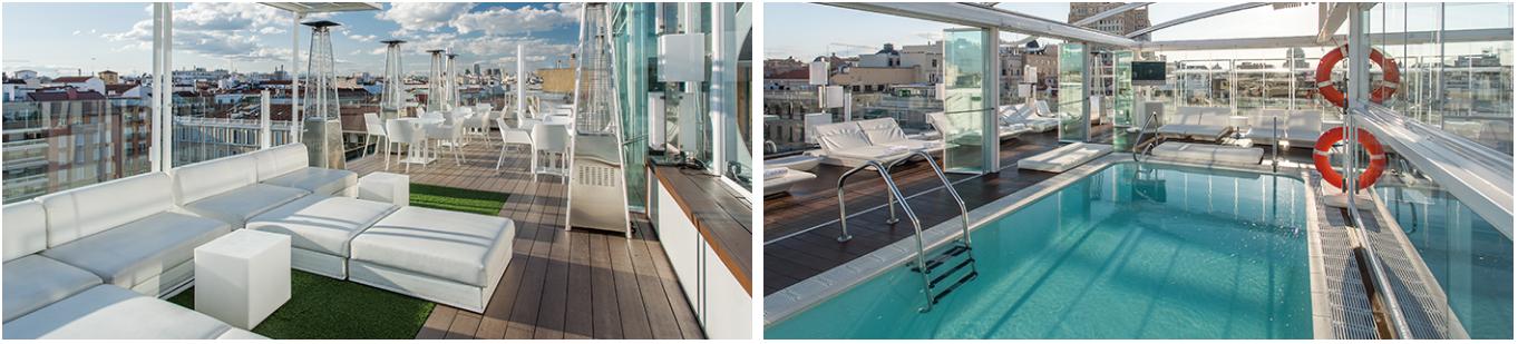 hotel con piscina en el centro de Madrid